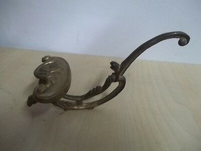"Vintage Victorian Brass Robe Coat Hook 7"" Estate Find Tr"