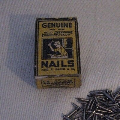 Old Vtg Genuine Nails Chas. F Baker & Company Hold Fast • CAD $24.67