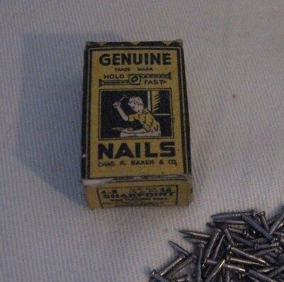 Vintage Genuine Nails Chas. F Baker & Company Hold Fast~In Original Box