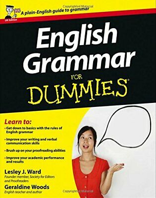 English Grammar for Dummies, UK Edition by Ward, Lesley J. Paperback Book The