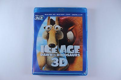 Ice Age 3:dawn of the Dinosaurs 3D (Blu-Ray 3D + 2D + DVD +Digital) BRAND NEW!