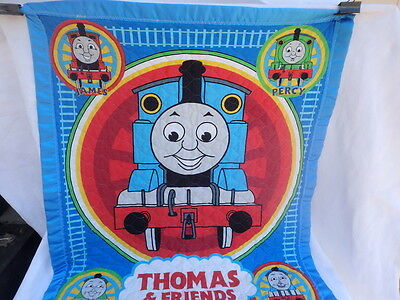 Thomas The Tank Engine & Friends Train quilted Crib Comforter Homemade 42x35