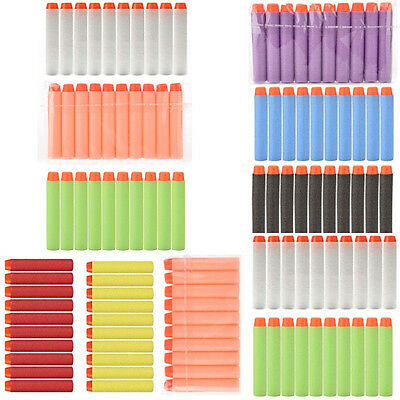 100x Colorful Refill Bullet Darts Nerf N-strike Blaster Toy gun Tactical Vest