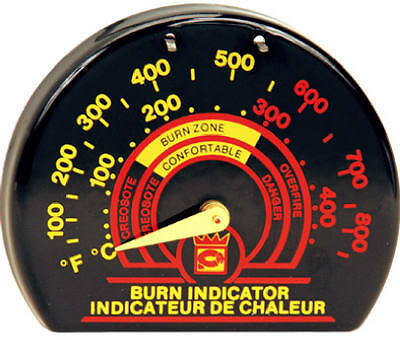 IMPERIAL MFG GROUP USA INC Stove Pipe Thermometer, Black