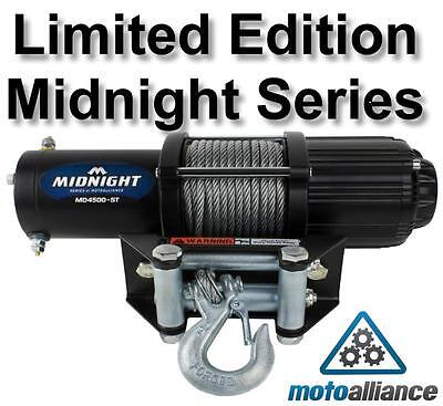 Limited Edition VIPER MIDNIGHT SERIES 4500lb ATV/UTV Winch w/ 50 ft Steel Cable