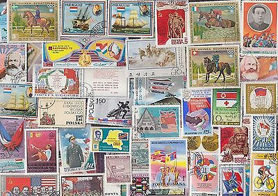300 All Different FLAGS on Stamps, A HUGE COLLECTION