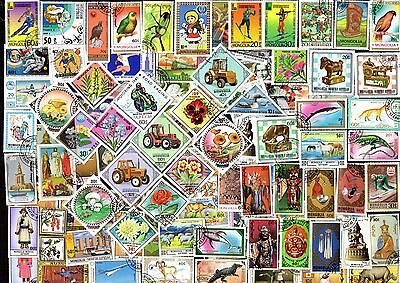 300 All Different MONGOLIA Stamps - ALL LARGE