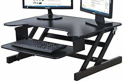 Height Adjustable Sit/Stand Desk Computer Riser, Dual Monitor 50lb