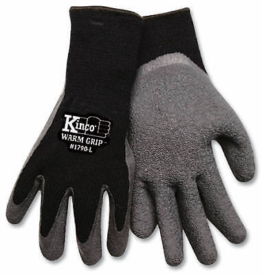 KINCO INTERNATIONAL Large Men's Cold-Weather Latex-Coated Knit Gloves