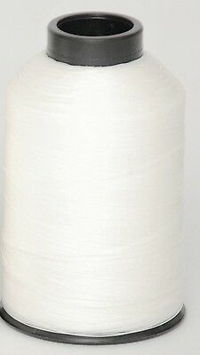 Two 4oz Cones Of # 69 White Bonded  Nylon Sewing Thread T70 B69 Made in The USA