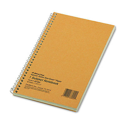 Subject Wirebound Notebook, Narrow Rule, 5 x 7 3/4, Green, 80 Sheets