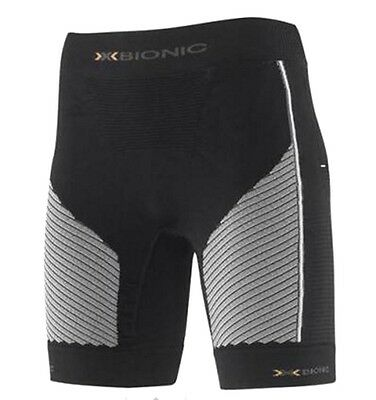 X-bionic Womens Compression Running Pants Shorts - Black / Pearl Grey NWT