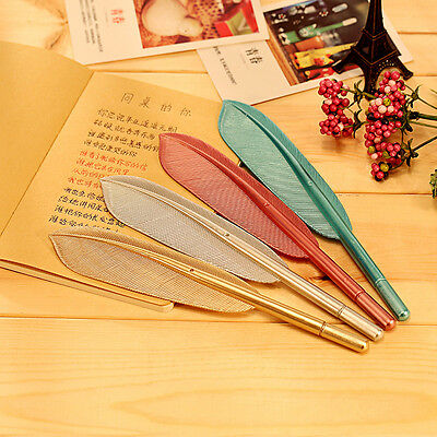 1PC New Cute Wing Feather Ballpoint Ink Pens Creative School Student Gift