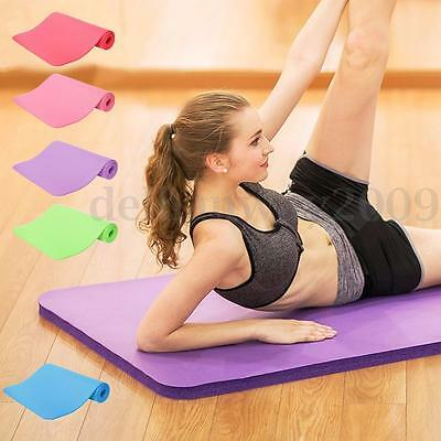 10mm Yoga Mat Exercise Workout Fitness Physio Pilates Gym Cushion Non Slip Floor