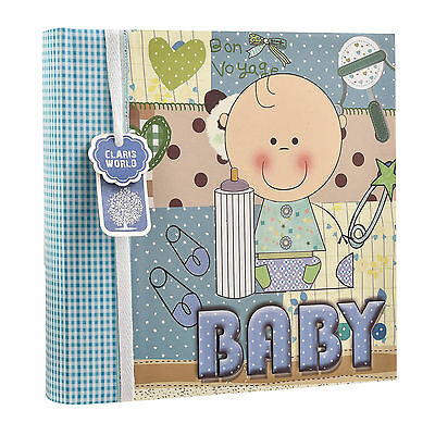 "Baby Boy Blue  Memo Slip In Photo Album 200 6""x4'' Photos Ideal Gift AL-9772"