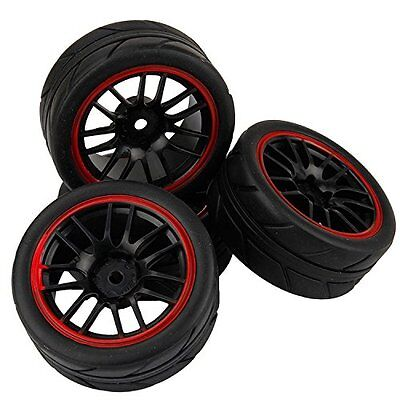 4pcs RC 1:10 Tires Tyre and Wheels for HSP REDCAT HIMOTO 1:10 Scale Car