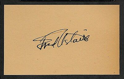 Fred Astaire Autograph Reprint On Genuine Original Period 1930s 3x5 Card