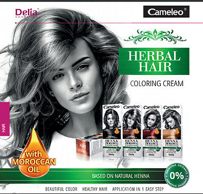 Cameleo Henna Creme Herbal Hair Cream Coloring Cream Natural HENNA 0% AMMONIA