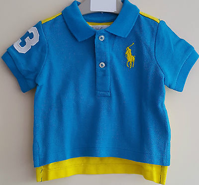 Bnwt Authentic Polo Ralph Lauren Baby/toddler Boys Polo Shirts Tops 3-18 Months