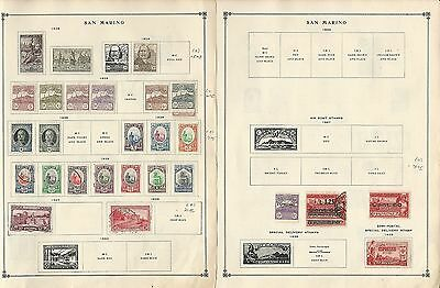 San Marino 1897 to 1940 On 7 Scott International Pages