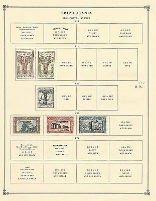 Tripolitania Collection 1926 to 1932 On 2 Scott International Pages, Italy Col.