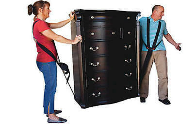 READY LIFTER Furniture Moving Straps Harness Equipment 2 Person System 600lb.