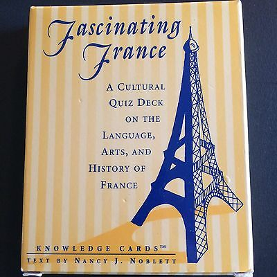 Fascinating France Language Trivia Knowledge Fact Game Cards Quiz