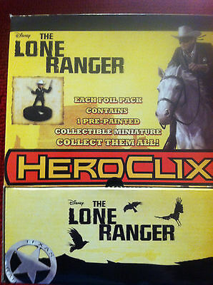 The Lone Ranger HeroClix: Gravity Feed 24 Count Display NEW