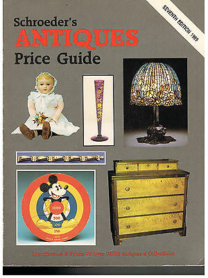 Schroeder's Antiques Price Guide 7th Edition 1989~IDENTIFICATION & VALUES-VG