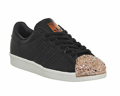 Adidas Superstar 80's Metal Toe Trainers BLACK COPPER METAL TXT Trainers Shoes