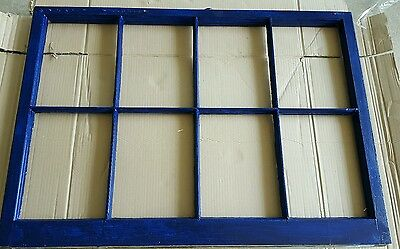 Vintage Sash Antique Wood Window Unique Frame Pinterest Wedding 8 Pane Blue