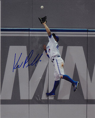 Toronto Blue Jays Kevin Pillar Signed MLB Baseball 8x10 Photo Autograph Picture