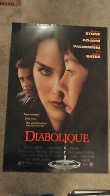 Diabolique (1996) Original Movie Poster 27x40 Sharon Stone Double Sided