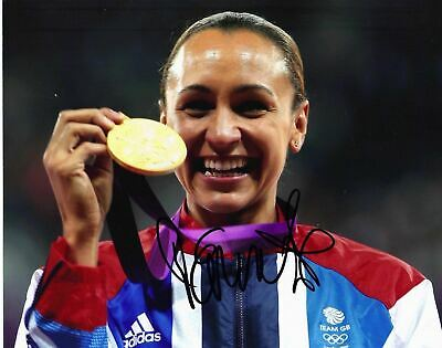 Jessica Ennis Signed 10X8 Photo Team Gb London 2012 With Proof Aftal Coa (Y)