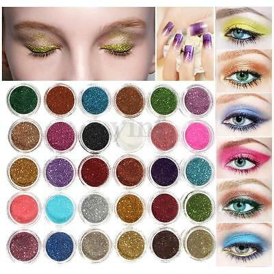 6/12/30/48/60Colors Makeup Loose Powder Glitter Body Face Eye Shadow Cosmetic