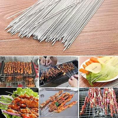 50 x Stainless Steel 35cm Camping Barbecue BBQ Skewers Needle Kebab Kabob Stick