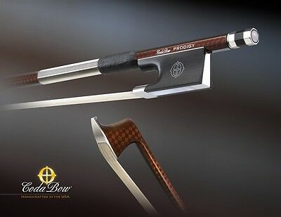 Coda Prodigy 4/4 Violin Bow Carbon Made in USA **BRAND NEW** 5-year Warranty