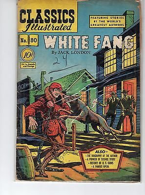 Classics Illustrated #80 HRN 79 (Original) VG- Blum White Fang