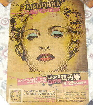 Madonna Celebration Collection Best 2009 Taiwan Promo Poster