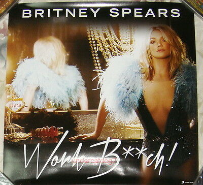 Britney Spears Work B**ch 2013 Taiwan Promo Poster