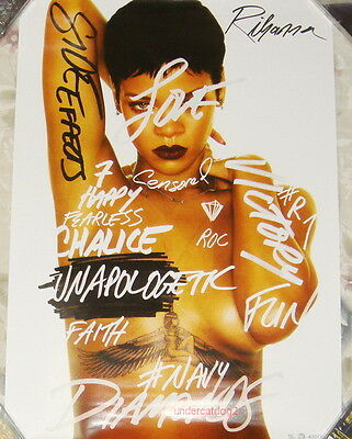 Rihanna Unapologetic 2012 Taiwan Promo  Poster