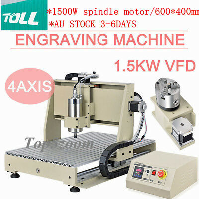 4axis CNC Router 6040 Engraver 1.5KW Carving Drilling Milling Machine Ball Screw