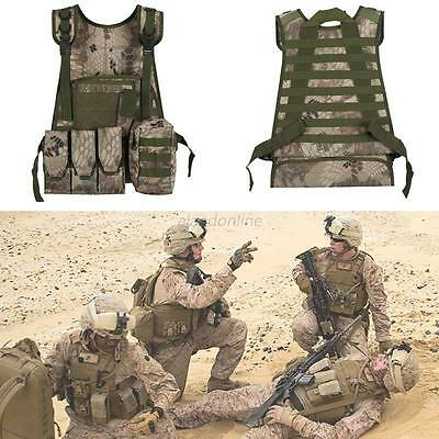 Tactical Military Assault Plate Carrier Vest SWAT Waistcoat Airsoft Molle Combat