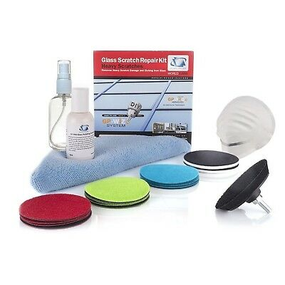 Glass Scratch Repair Kit GP-WIZ System Removes Scratches Surface Marks Water ...