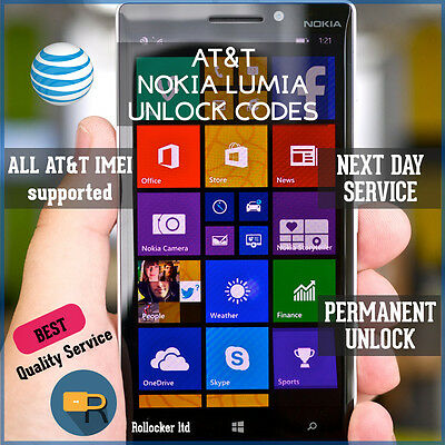 AT&T FAST MICROSOFT/NOKIA LUMIA  FACTORY UNLOCK CODE SERVICE 640 520 ALL Models
