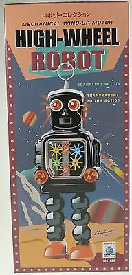 Robot With Cogs And Sparks In Chest Clockworkhigh Wheel Robot Great Collectible