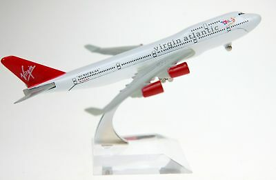 VIRGIN DIECAST  PLANE MODEL 1:400 16cm WITH STAND