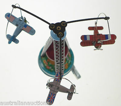Spin A Lite #6 Wind Up 1960 Battery Toy Old Store Stock