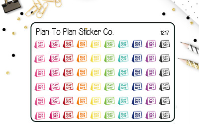 1217~~60 Day Off Work Trackers Planner Stickers.