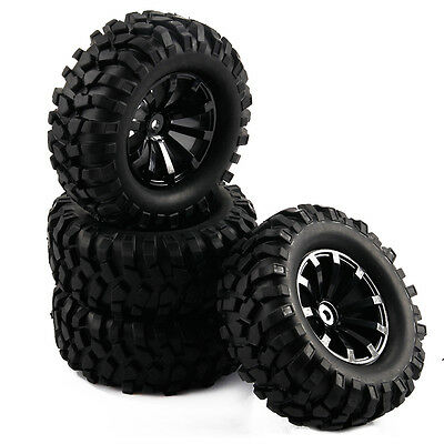 4P RC 1:10 off-road Car 10 Spoke Wheel Rims and 96mm Gravel Shape Pattern Tires